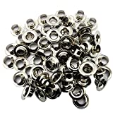 C.S. Osborne Nickel Grommets & Washers #N1-0 Size 0 (1/4 Hole) 144 Sets