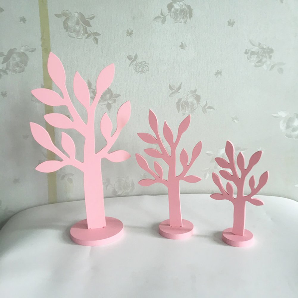 3pcs/set Simulation Wood Tree Small/Mid/Tall Font Pink Wood Home Decor Gift Crafts by floor88 (Image #5)