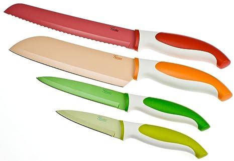 Compra Genius 21076 - Juego de 4 Cuchillos de Colores (1 ...