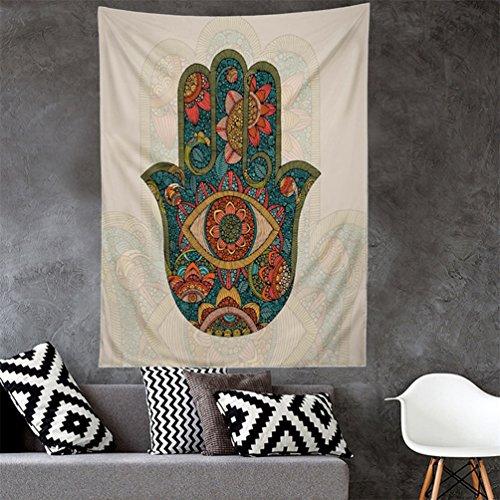 Bismarckbeer Hamsa Fatima Hand Wall Hanging Tapestry Yoga