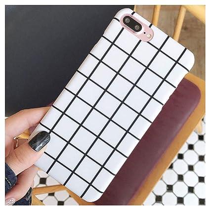 sale retailer efad0 db148 Amazon.com: Mixneer for iPhone 6/6s Case Simple Black White Grid ...