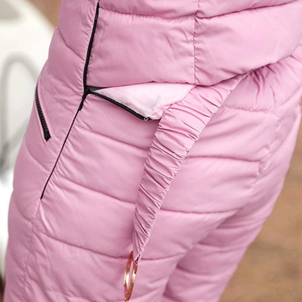 Tuta da sci da donna Tuta calda invernale Pelliccia sintetica Cappuccio imbottito Tuta da neve imbottita Antivento Tuta da neve da arrampicata allaperto Campeggio Pantaloni sportivi Tuta da sci Tute