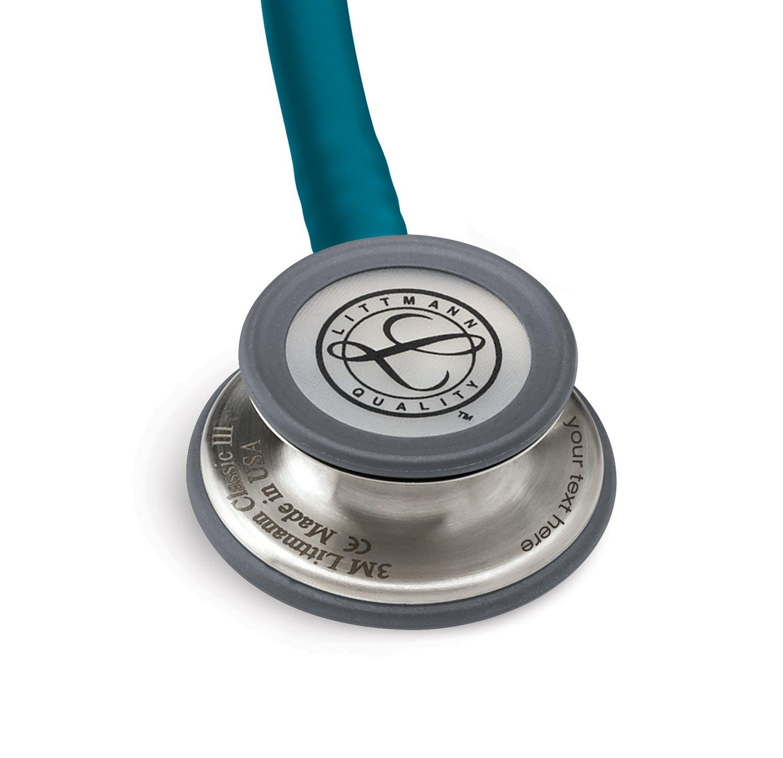 Estetoscopio Littmann Classic III Personalizado con Grabado + Linterna Pupilar de Regalo (Azul Caribe): Amazon.es: Salud y cuidado personal