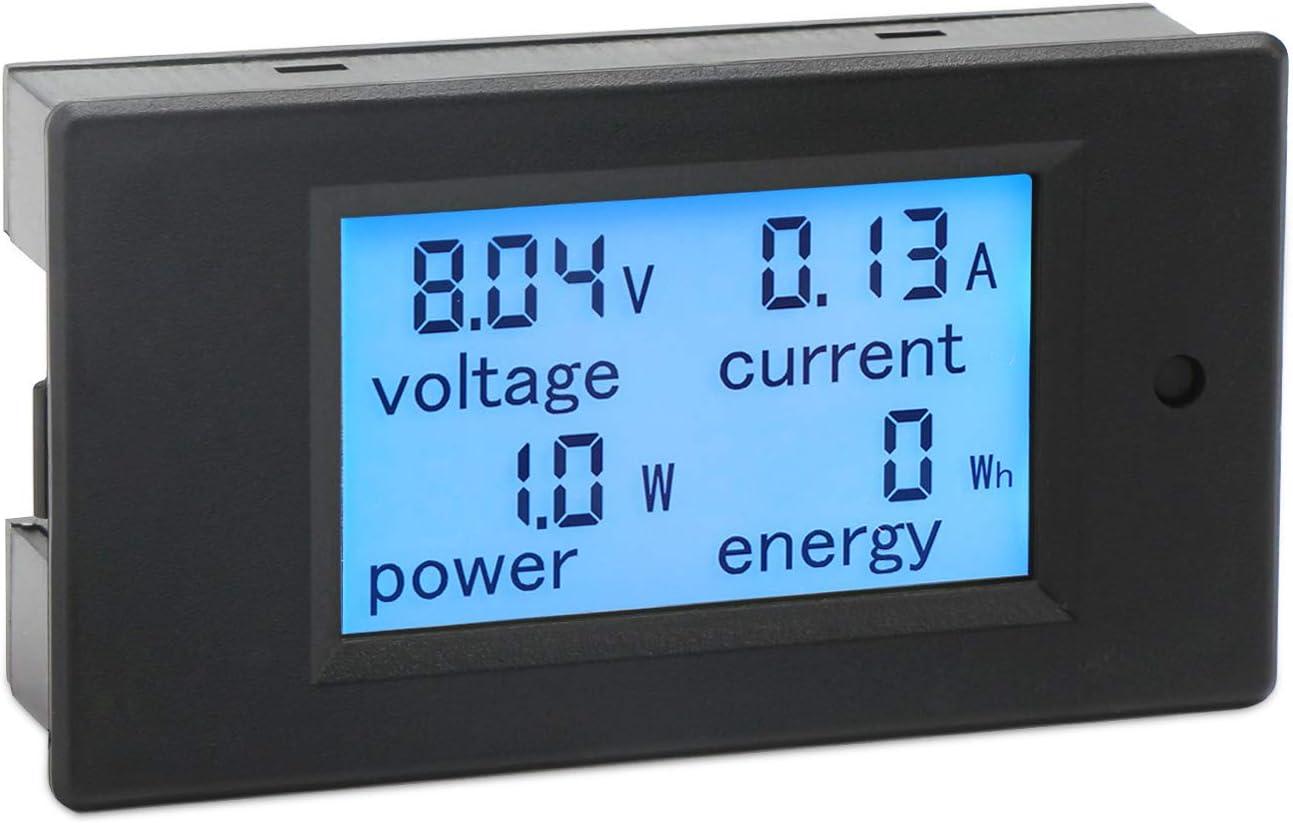 Digitalmultimeter Droking Dc 6 5 100 V 20 A Stromstärke Strom Energiezähler Dc Volt Amp Tester Messgerät Monitor Lcd Digitalanzeige Hintergrundbeleuchtung Messspannung Strom Mit Eingebautem Shunt Baumarkt