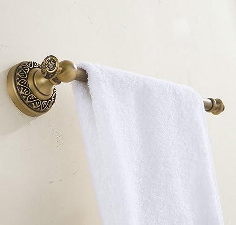 Hiendure® 33cm Latón macizo anillo de toalla toallero Porta toallas, Acabado de latón antiguo