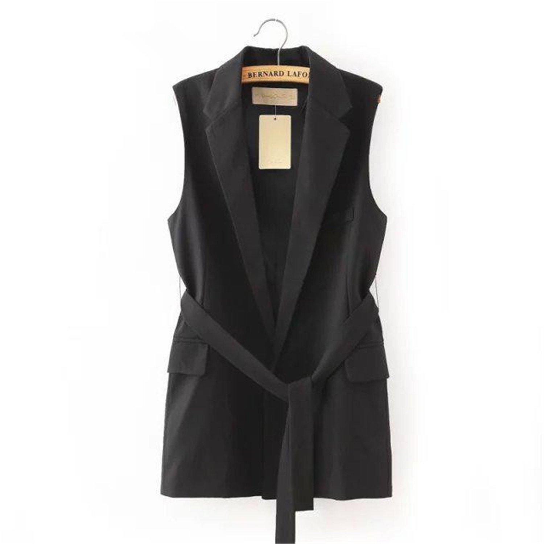 Hoared 2017 Autumn Long Vest Women Workwear Waistcoat Outwear Vest Coat Jacket