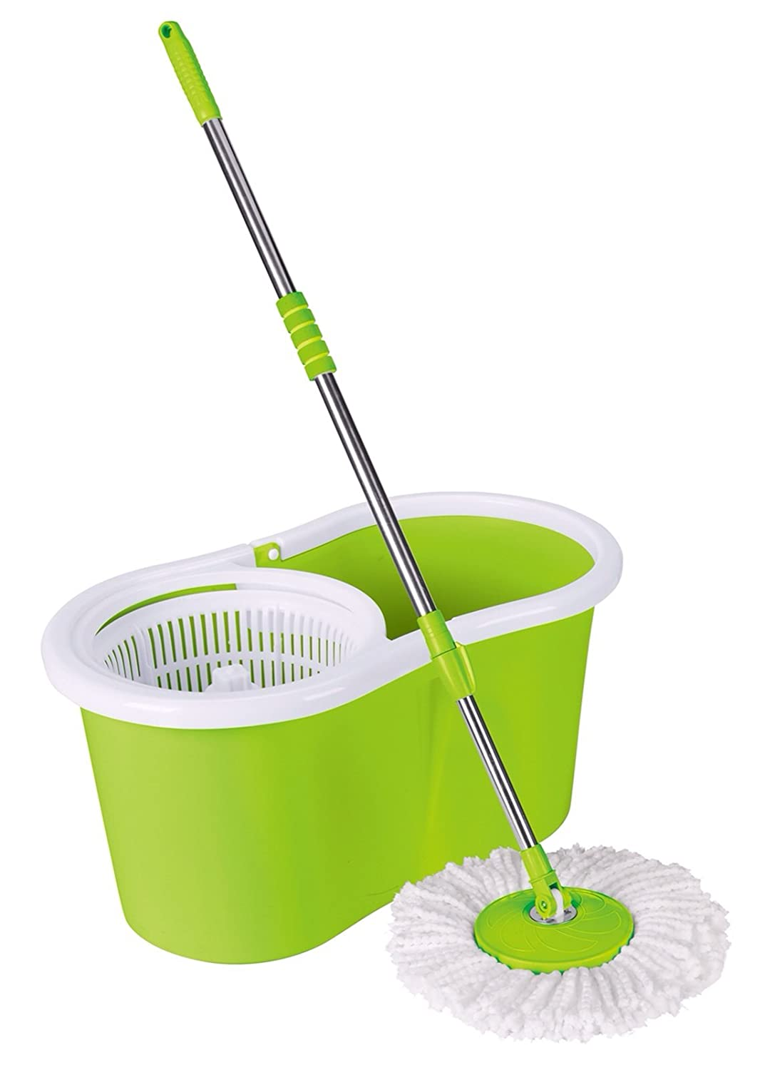 Gebi Super Spin Mop with 1 Extra Refill Free (Multicolour): Amazon ...