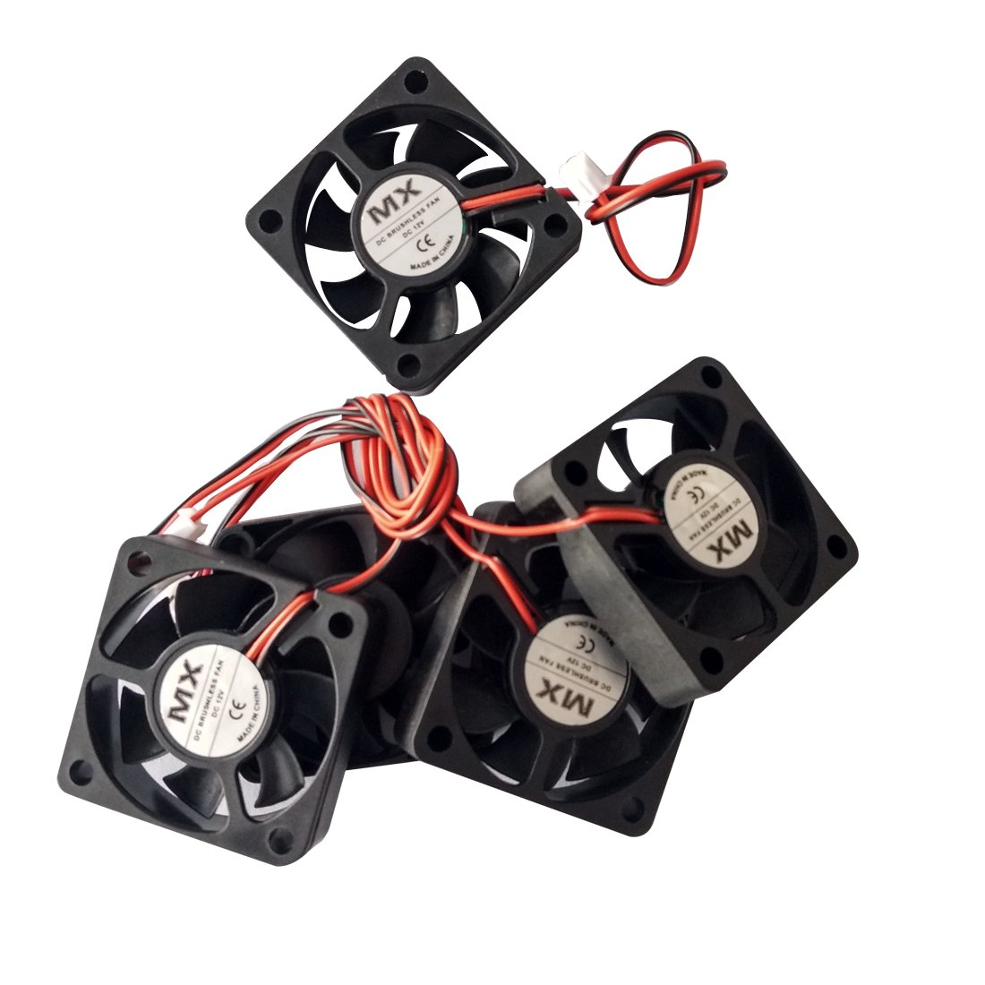 Copapa 5Pcs Cooling Fan 4010 40x40x10mm 2-Wire for PC Case Cooler (12V)