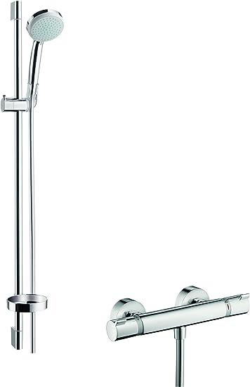Hansgrohe 27035000 Croma 100 Vario Set de ducha con termostato y ...