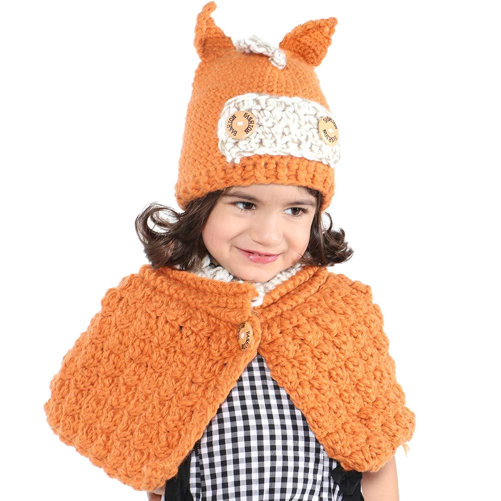 VAMEI Kids Cappello a Maglia con Cappuccio Cappuccio Sciarpa Cappelli  Inverno Caldo Cappelli Animali per Ragazze Ragazzi Bambini 3-10 Anni  (Panda) XIONGMHB a9ac748fa241
