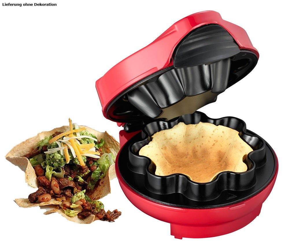Melissa 16250045,Taco maker, red, 1000 watt 162-50045