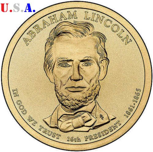 (The Abraham Lincoln Presidential Golden Dollar Uncirculated Coin 2010 P & D Mint-2 coins)