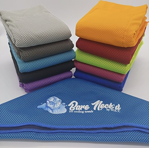 Bare Neckd Ice Cooling Towels insulated Ice Pockets Fitness Gym Towel HikingTravel Hot Flashes