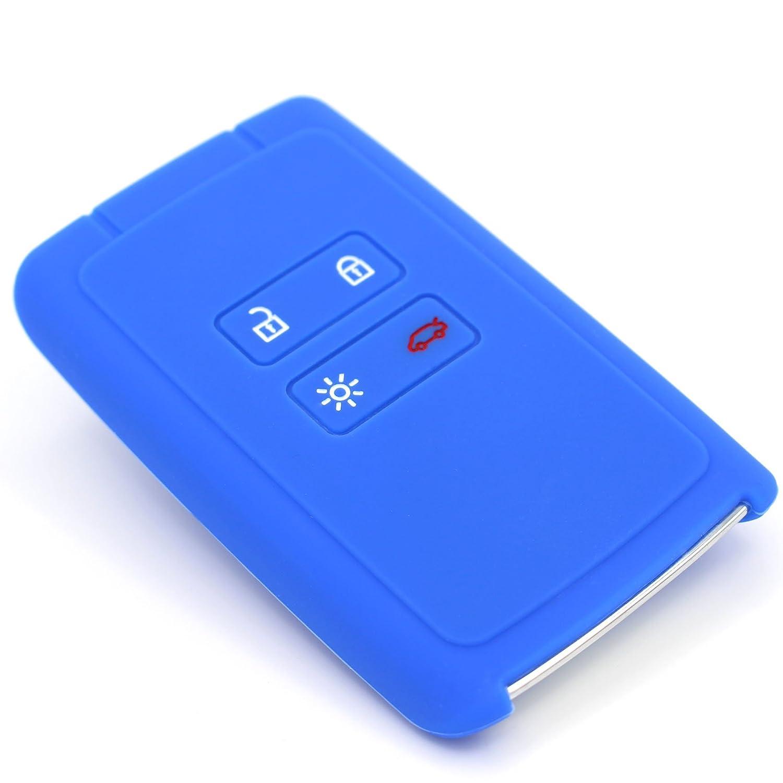 Finest Folia, custodia portachiavi in silicone, RC, per chiavi dell' auto a 4 pulsanti Nero per chiavi dell' auto a 4 pulsanti Nero Finest-Folia