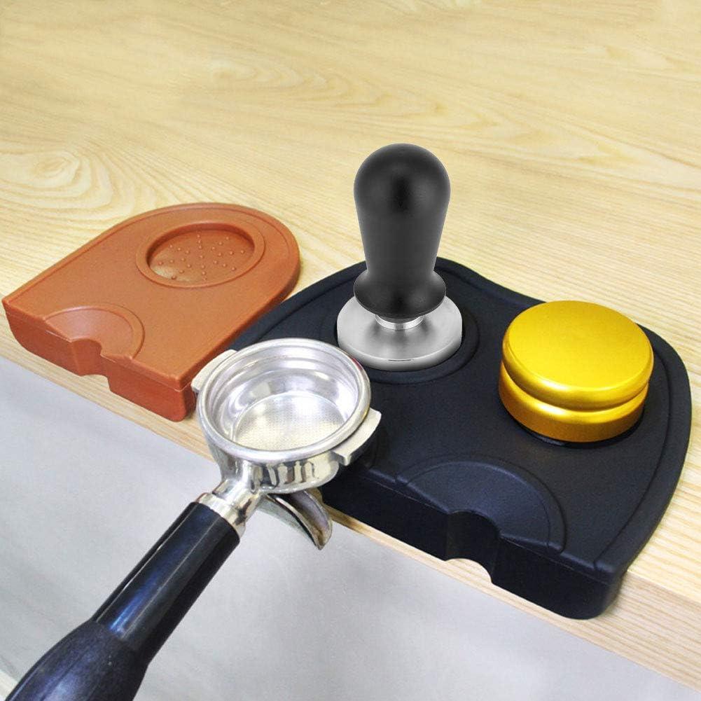 AUNMAS 58mm//51mm Espresso Tamper Stainless Steel Coffee Tamper Flat Base Espresso Beans Press Tool Kitchen Accessories 1#
