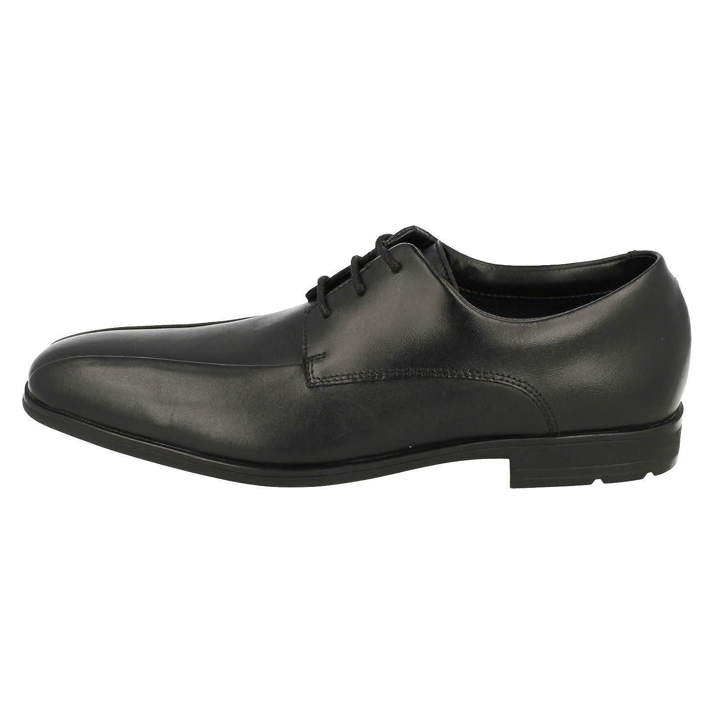 Clarks Willis Lad Bootleg Boys Senior School Shoes 5.5 UK G Black