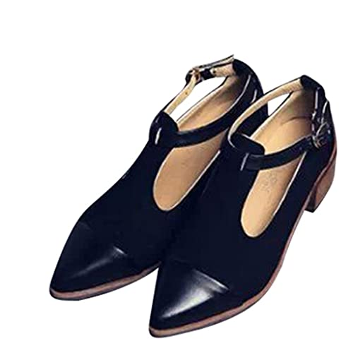 2b1d7f5219e Dear Time Oxford Shoes Women Spring Pointed Toe Low Heel Black US 5