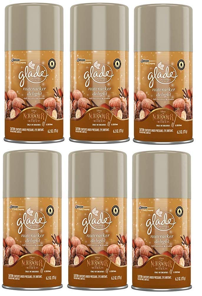 Glade Automatic Spray Refill - Holiday Collection 2018 - Nutcracker Delight - Net Wt. 6.2 OZ 175 g Per Refill Can Pack of 6 by Glade