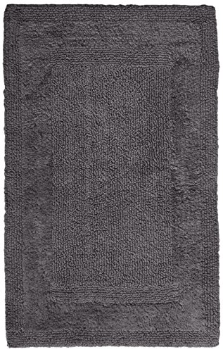 61LztFNWA9L - Pinzon Luxury Reversible Cotton Bath Mat - 21 x 34 inch, Platinum
