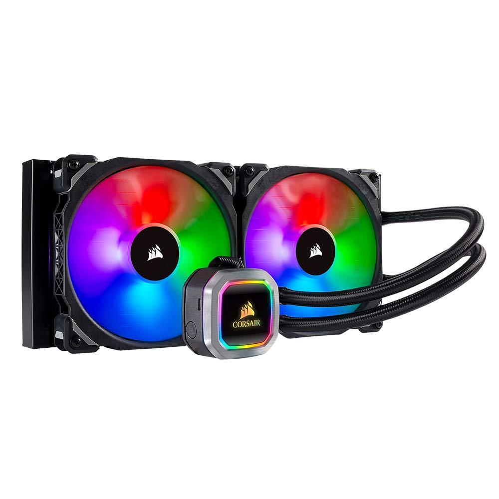 Corsair H115i RGB PLATINUM AIO Liquid CPU Cooler,280mm,Dual ML140 PRO RGB PWM Fans,Intel 115x/2066,AMD AM4/TR4 by Corsair