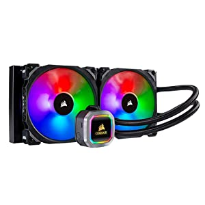CORSAIR H115i RGB PLATINUM AIO Liquid CPU Cooler,280mm,Dual ML140 PRO RGB PWM Fans,Intel 115x/2066,AMD AM4/TR4