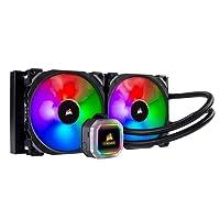 Corsair Hydro Series H115i RGB Platinum AIO Liquid CPU Cooler, 280mm Radiator, Dual 140mm ML Series PRO RGB PWM Fans, RGB Lighting and Fan Software Control, Intel 115x/2066 and AMD AM4/TR4 Compatible