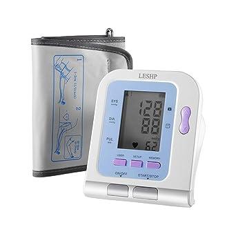 Contec automática brazo – Tensiómetro con pantalla LCD digital ligero Legibilidad, universal de Junta de