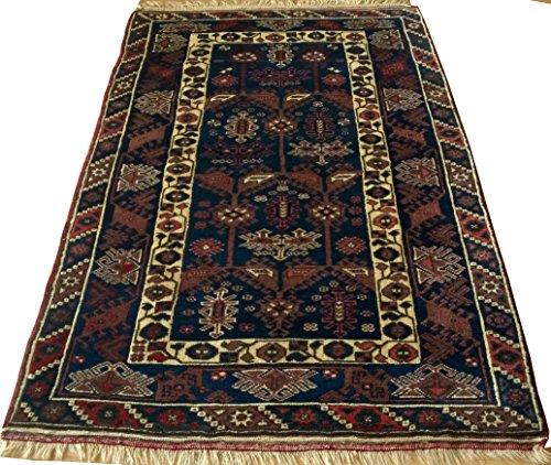 Vintage Handwoven Area Rug Carpet 5.90 x 3.70 ft.