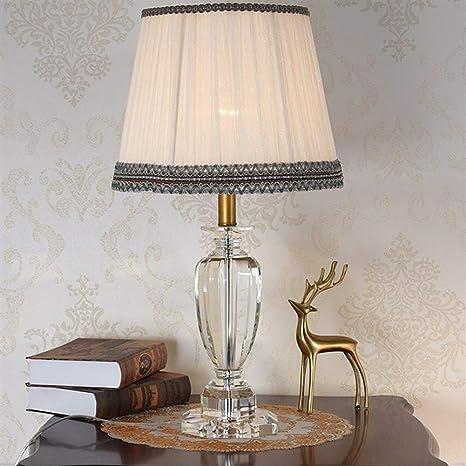 HZC Medieval Tradicional Lámpara de Mesa Vintage Crystal E27 ...