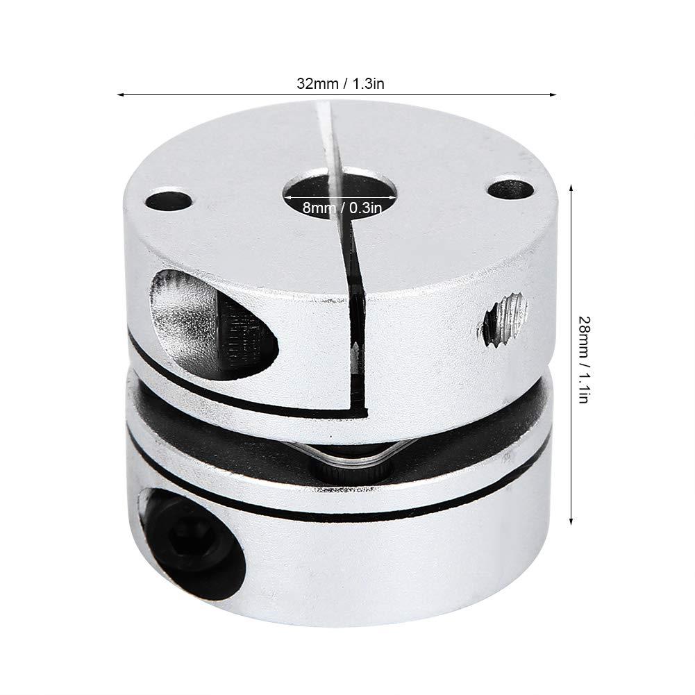 flexible Aluminiumwellenkupplung Einmembrankupplung GS 32x28‑8x8 zur Wellen/übertragung verschiedener mechanischer Ger/äte Wellenkupplung