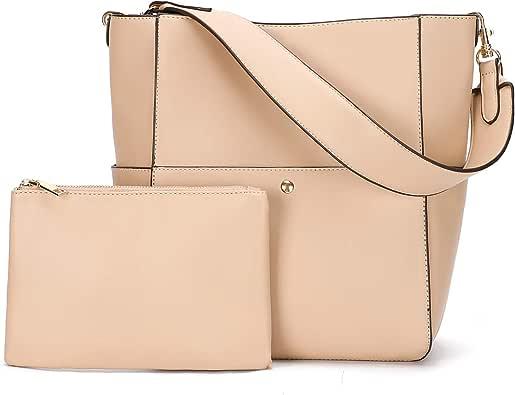 Women Handbags Purses PU Leather Bucket Bags Designer Shoulder Satchel Tote Bags