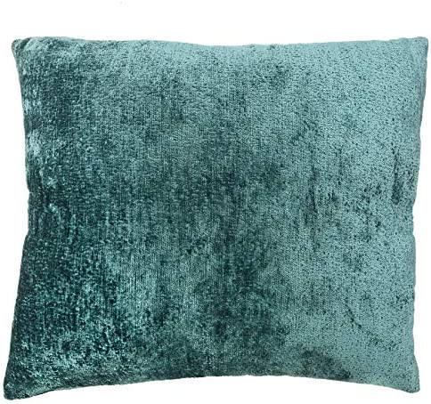 Rodeo Home Sersy Decorative Chenille Pillow – Textured Extremely Soft Cushion Decor for Couch, and Indoor Seat – 100 Feather Insert – Comes in 2 Sizes Teal, 18×20