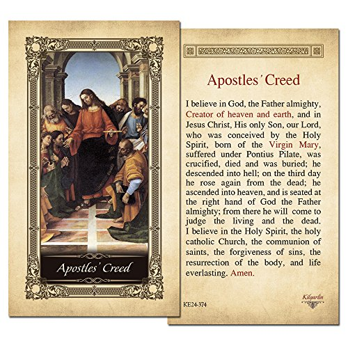 Prayer Laminated Holy Card (Apostles' Creed Laminated Holy Card - Pack of 3)