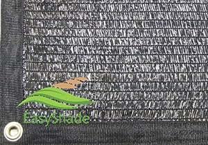 easyshade 40% negro Shade Cloth selladas borde con ojales UV 12M x 14m