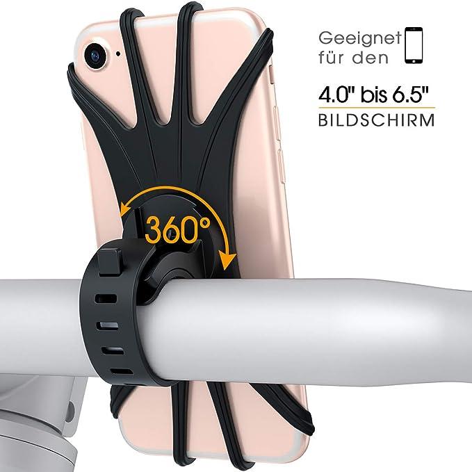 Vup Fahrrad Handyhalterung Universal 360 Drehbarer Elektronik