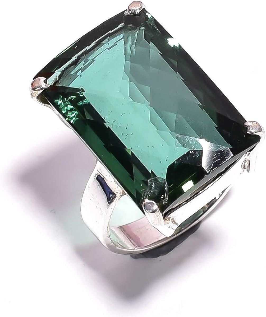 Handmade Unique Tourmaline Gemstone Silver Woman Ring