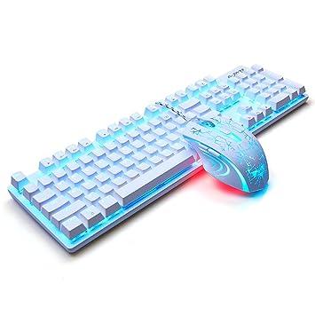 L&Y Teclados para gamers Mecánica teclado juegos teclado oficina teclado Internet barra teclado juegos teclado portátil teclado retroiluminado ...