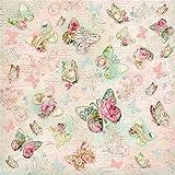 Tovagliolo Carta di riso 50x50 cm Farfalle Greetings © Stamperia DFT271