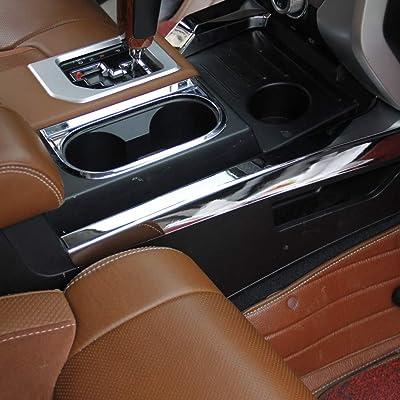 Justautotrim Chrome Side Center Console Panel Moulding Cover Trim for Toyota Tundra 2014 2015 2016 2020 2020 2020: Automotive