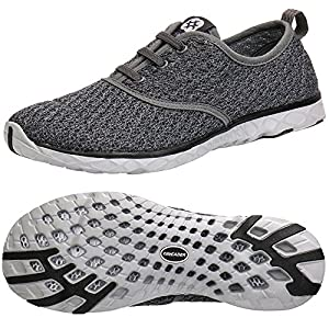 ALEADER Men's Stylish Quick Drying Water Shoes Gray 7 D(M) US
