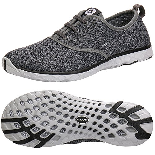 ALEADER Men's Stylish Quick Drying Water Shoes Gray 8 D(M) US