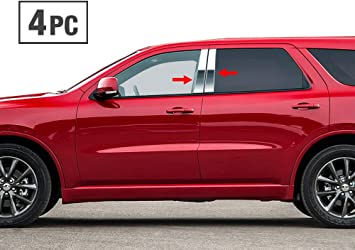MAXMATE Made in USA Works with 2008-2015 Dodge Grand Caravan 4PC Stainless Steel Chrome Pillar Post Trim