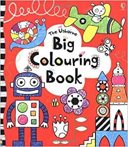 buy big colouring book usborne colouring books book online at low prices in india big colouring book usborne colouring books reviews ratings - Usborne Coloring Books