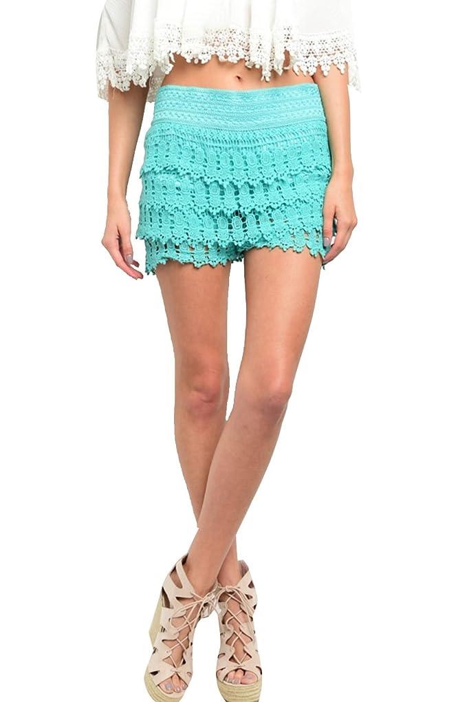 e44abd19042a 2LUV Women s Boho Chic Crochet Shorts