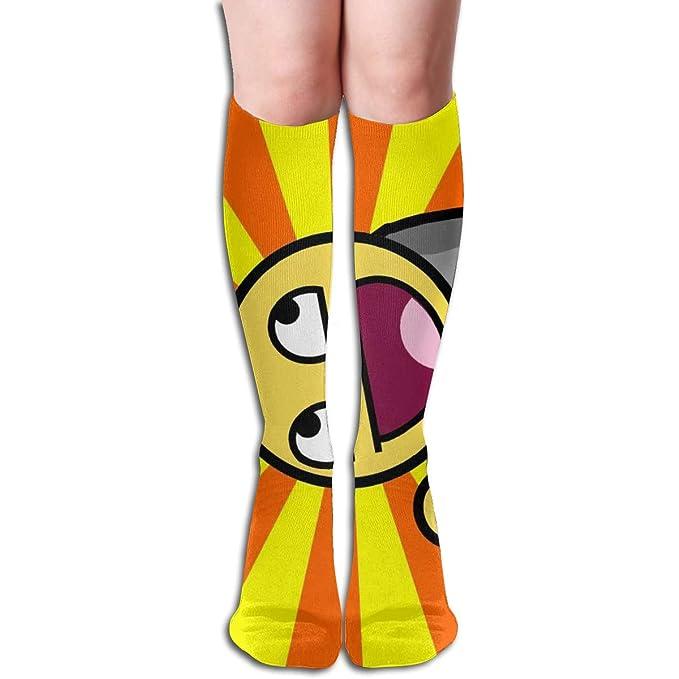 9fdb6e862 Amazon.com  Funny Smile Emoji Design Elastic Blend Long Socks Compression  Knee High Socks (50cm) For Sports  Clothing