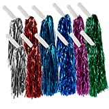 Best Handles For Parties - Juvale Cheerleader Pom Poms – 12 Pack Metallic Review