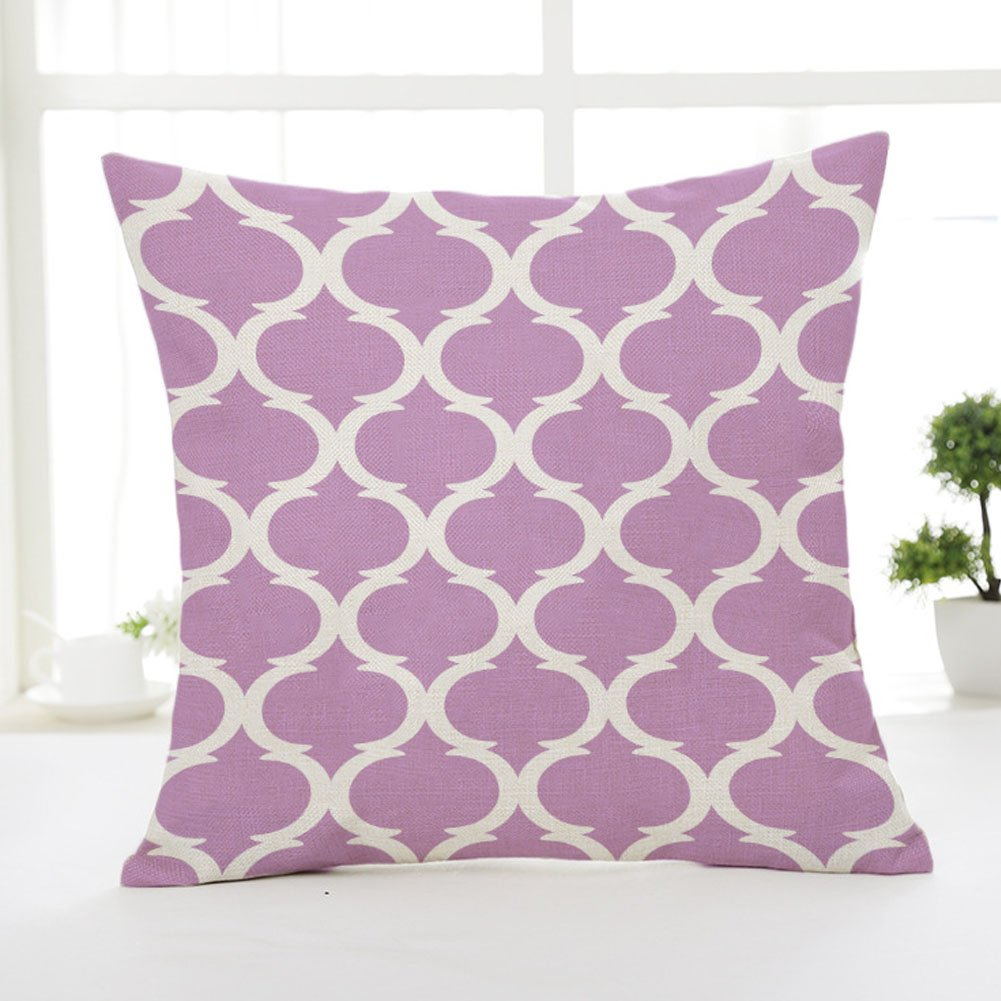 Motivi geometrici Emvanv lino tiro federa cuscino divano cuscino Home Decor, Grey, Taglia libera