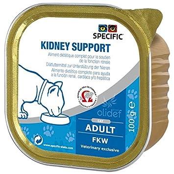 Specific - Comida humeda FKW Kidney support para gatos con problemas renales cardiacos o hepaticos, 7 X 100 g: Amazon.es: Productos para mascotas