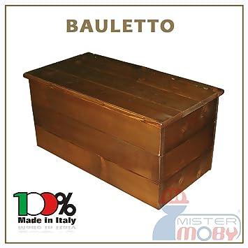 BAULE IN LEGNO 60X30X30 CM CASSAPANCA COLORE NOCE PER LEGNA ...