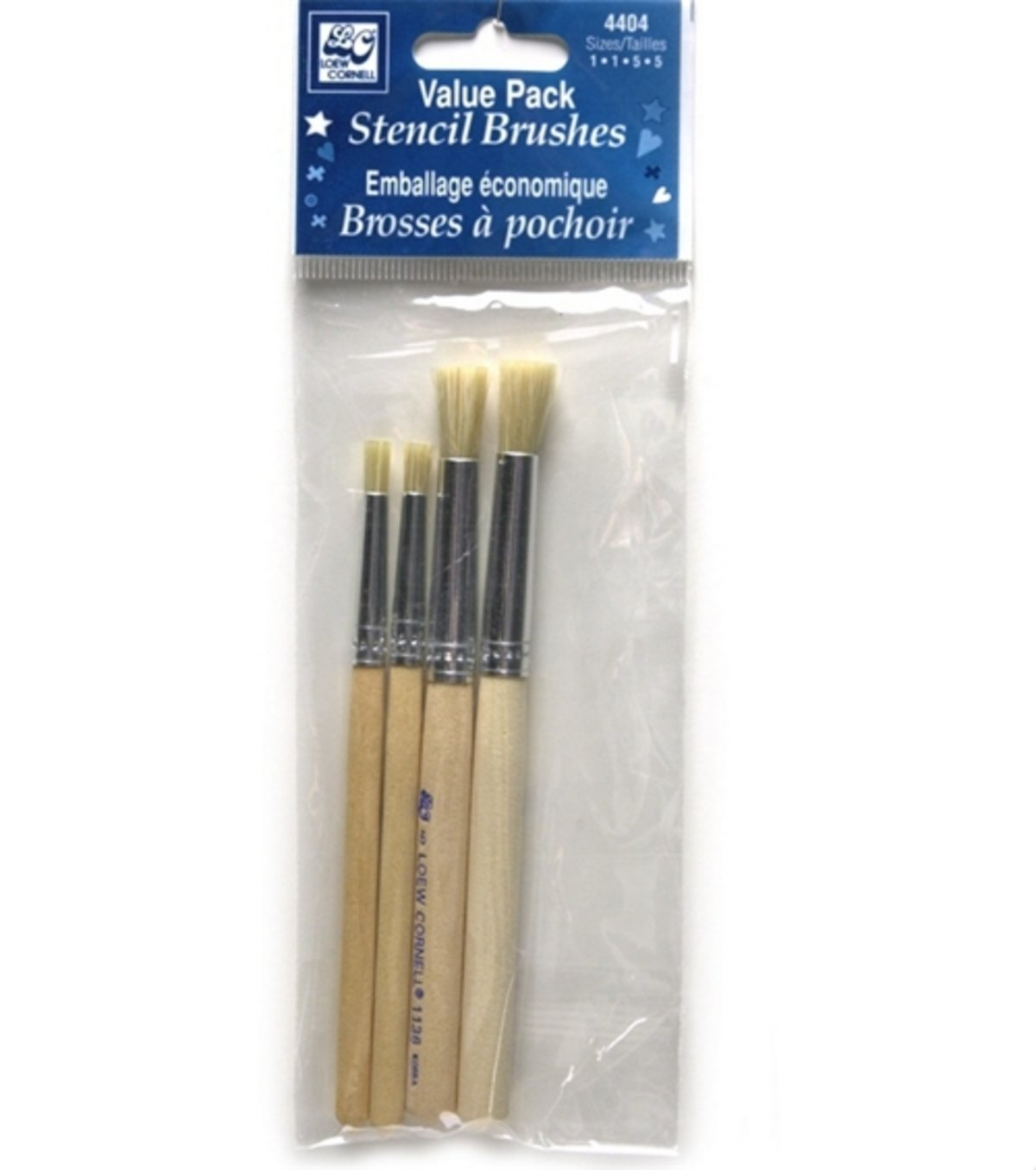 Loew-Cornell 4404 Bristle Stencil Brush Set
